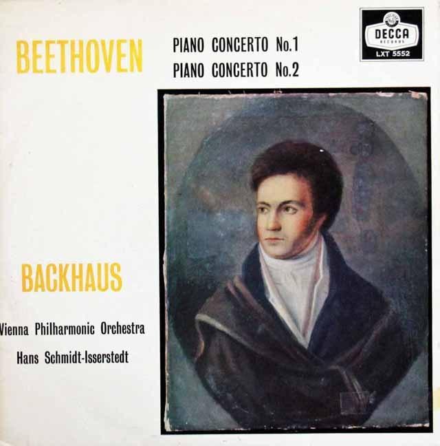 【モノラル】 バックハウス&イッセルシュテットのベートーヴェン/ピアノ協奏曲第1&2番 英DECCA 2995 LP レコード