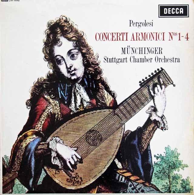 【モノラル】 ミュンヒンガーのペルゴレージ/コンチェルティーノ・アルモニコ第1~4番 英DECCA 2995 LP レコード