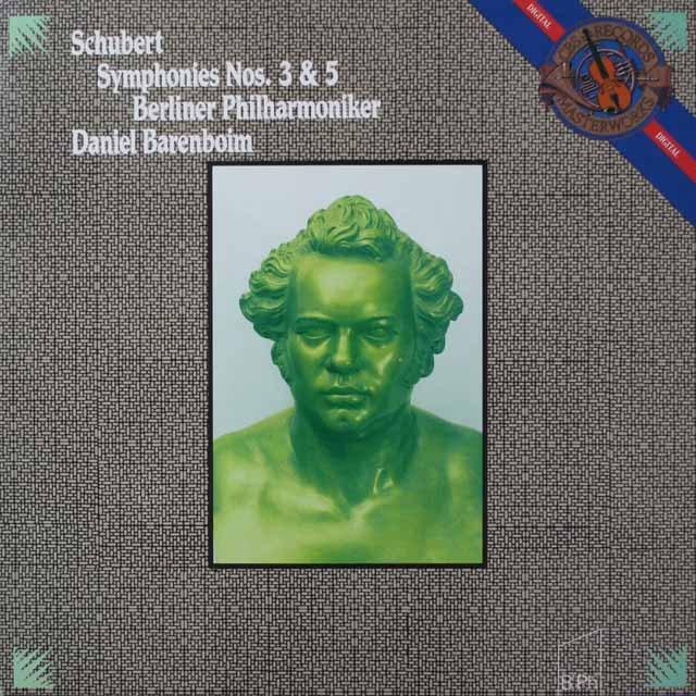 バレンボイムのシューベルト/交響曲第3&5番 蘭CBS 2643 LP レコード