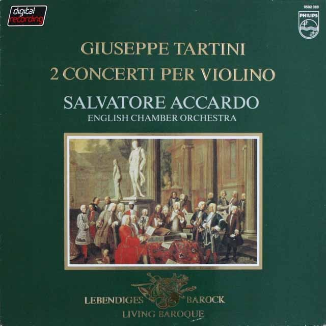 アッカルドのタルティーニ/ヴァイオリン協奏曲集 蘭PHILIPS 3303 LP レコード