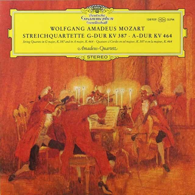 アマデウス四重奏団のモーツァルト/弦楽四重奏曲第14&18番 独DGG 3292 LP レコード