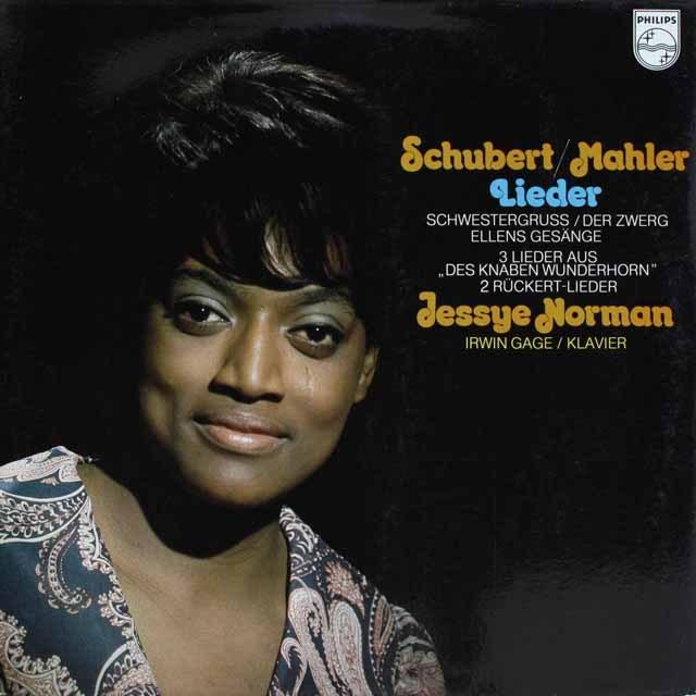 ノーマンのシューベルト&マーラー/歌曲集   蘭PHILIPS   2525 LP レコード