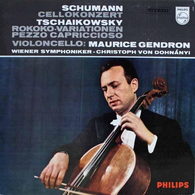 ジャンドロンのシューマン/チェロ協奏曲ほか 蘭PHILIPS 3303 LP レコード