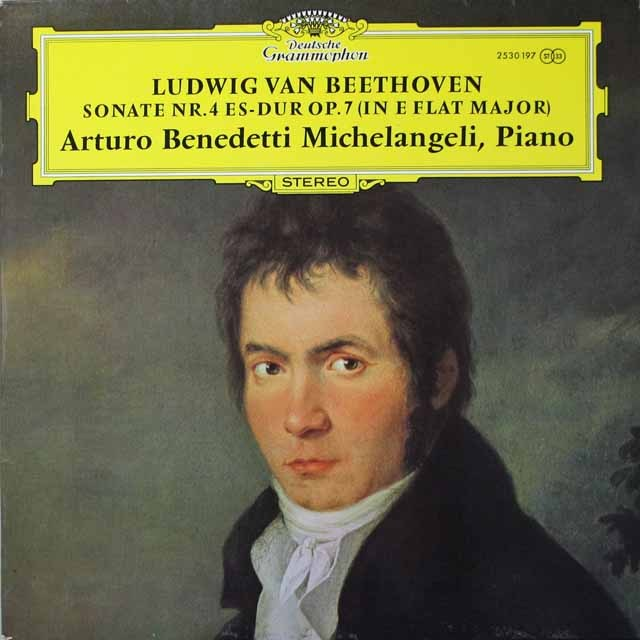 ミケランジェリのベートーヴェン/ピアノソナタ第4番 独DGG 2643 LP レコード