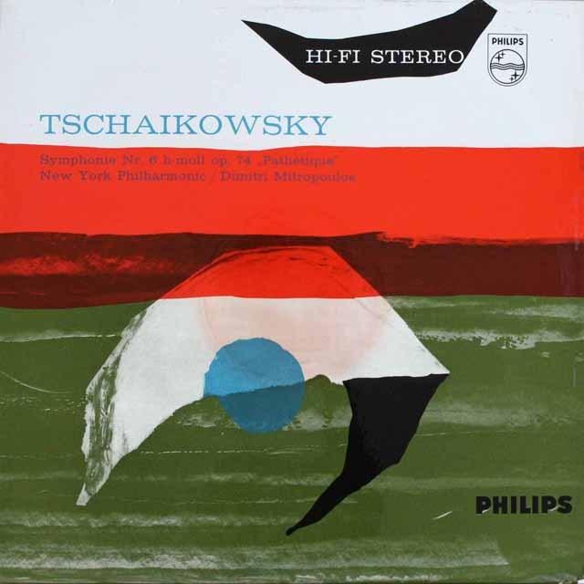 【オリジナル盤】ミトロプーロスのチャイコフスキー/交響曲第6番「悲愴」   英PHILIPS   2525 LP レコード