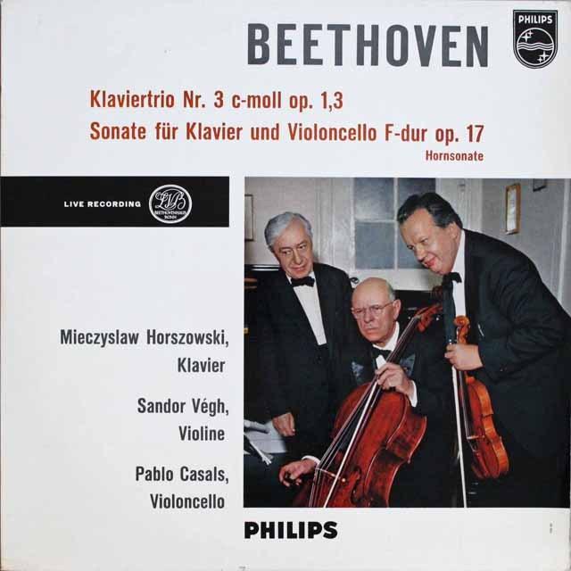 カザルストリオのベートーヴェン/ピアノ三重奏曲第3番ほか 独PHILIPS   2525 LP レコード