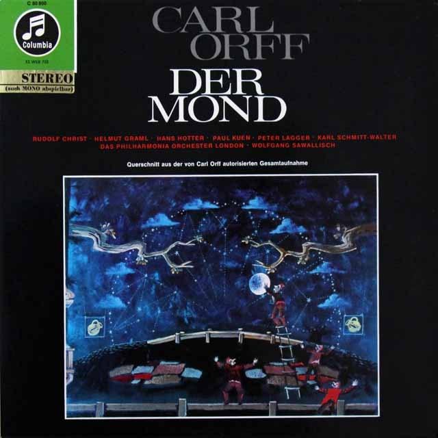 サヴァリッシュのオルフ/歌劇「月」 独Columbia 3223 LP レコード