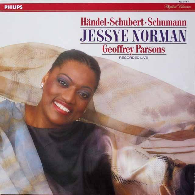 ノーマンのヘンデル、シューベルト&シューマンほか/歌曲集 蘭PHILIPS 2643 LP レコード