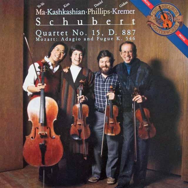 ヨーヨー・マ、クレーメルらのシューベルト/弦楽四重奏曲第15番ほか 蘭CBS 3293 LP レコード