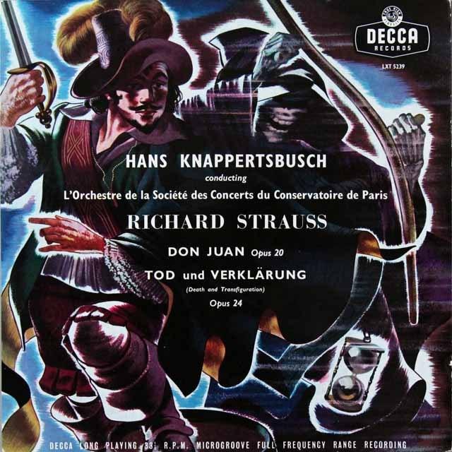 【オリジナル盤】 クナッパーツブッシュのR.シュトラウス/「ドン・ファン」&「死と浄化」 英DECCA 3223 LP レコード