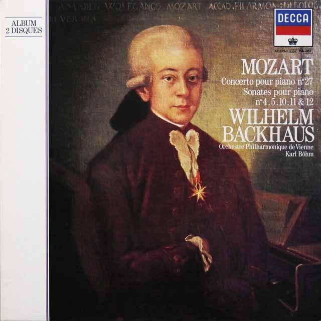 バックハウス&ベームのモーツァルト/ピアノ協奏曲第27番ほか 仏DECCA   2713 LP レコード