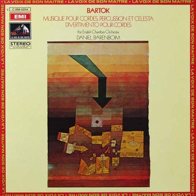 バレンボイムのバルトーク/弦楽器と打楽器とチェレスタのための音楽 仏EMI(VSM) 3223 LP レコード