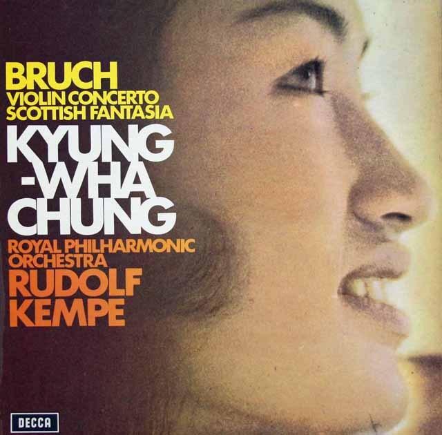 【オリジナル盤】チョン&ケンペのブルッフ/ヴァイオリン協奏曲第1番ほか 英DECCA 2847 LP レコード