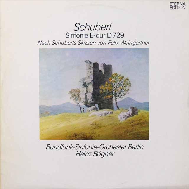 レーグナーのシューベルト/交響曲ホ長調(テストプレス) 独ETERNA   2713 LP レコード
