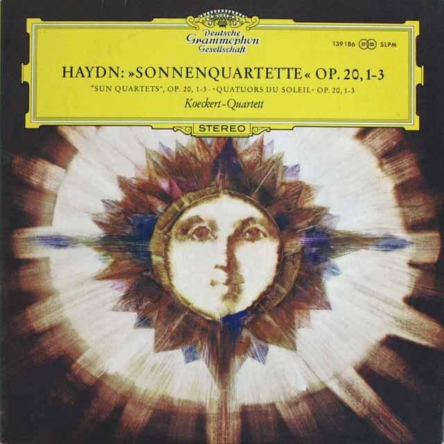 ケッケルト四重奏団のハイドン/「太陽」四重奏曲 作品20,1-3  独DGG 2522