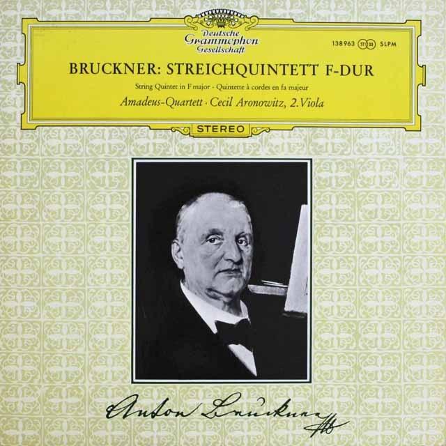 アマデウス四重奏団&アロノヴィッツのブルックナー/弦楽五重奏曲 独DGG 3232 LP レコード