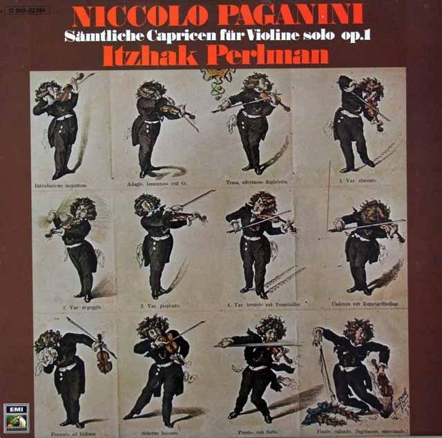 パールマンのパガニーニ/24の奇想曲  独EMI 3293 LP レコード