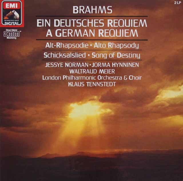 テンシュテットのブラームス/ドイツ・レクイエム 独EMI 3293 LP レコード