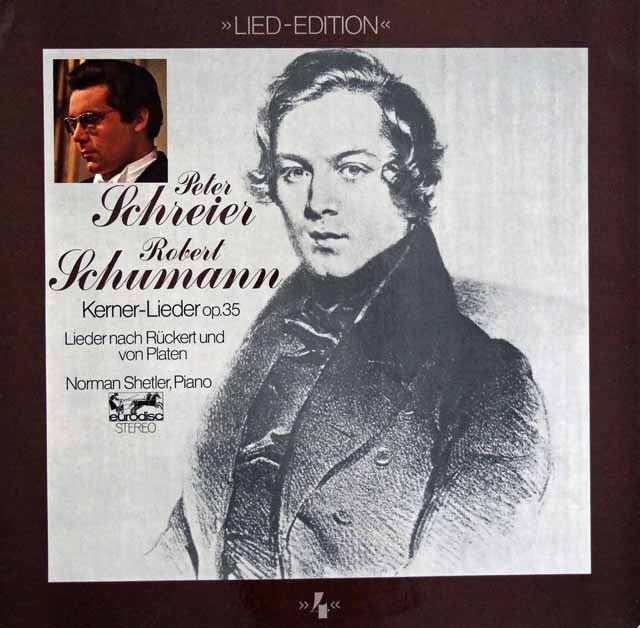 シュライアーのシューマン/「ケルナーの詩による12の歌」 独eurodisc 3394 LP レコード