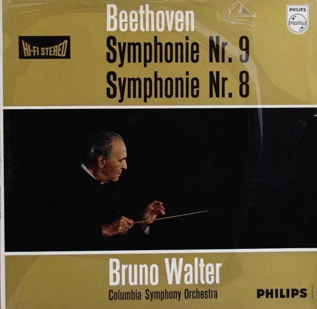 【オリジナル盤】ワルターのベートーヴェン/交響曲第9&8番 蘭PHILIPS 3001 LP レコード