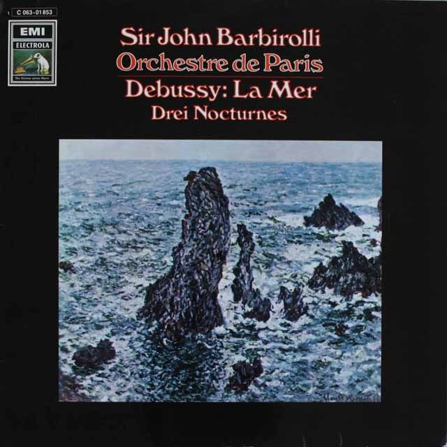 バルビローリのドビュッシー/「海」ほか 独EMI 3232 LP レコード