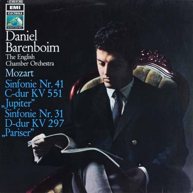 バレンボイムのモーツァルト/交響曲第31番「パリ」&41番「ジュピター」  独EMI 3232 LP レコード