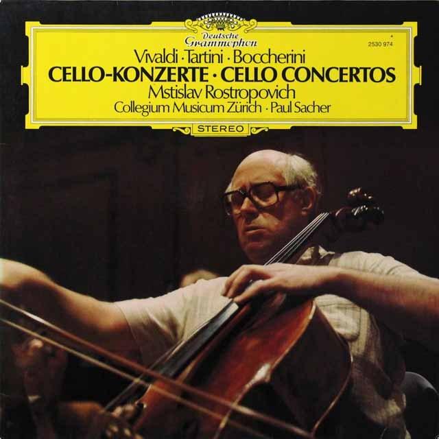 ロストロポーヴィチ&ザッヒャーのチェロ協奏曲集 独DGG 3291 LP レコード