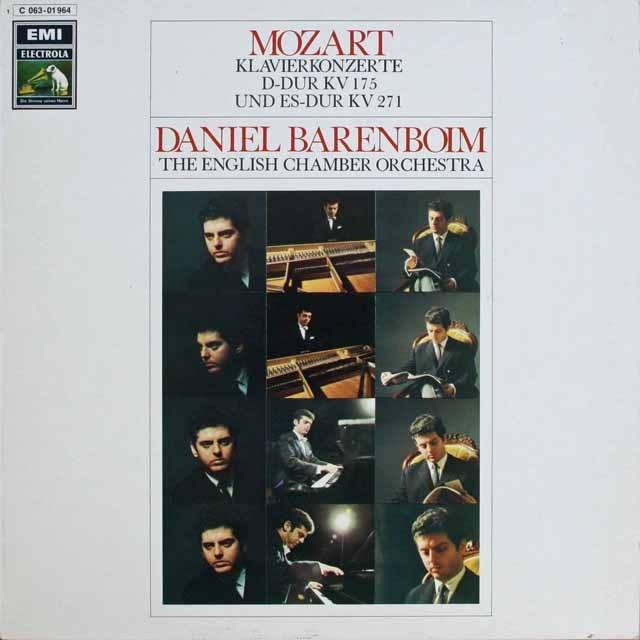 バレンボイムのモーツァルト/ピアノ協奏曲第5&9番「ジュノム」 独EMI 3232 LP レコード
