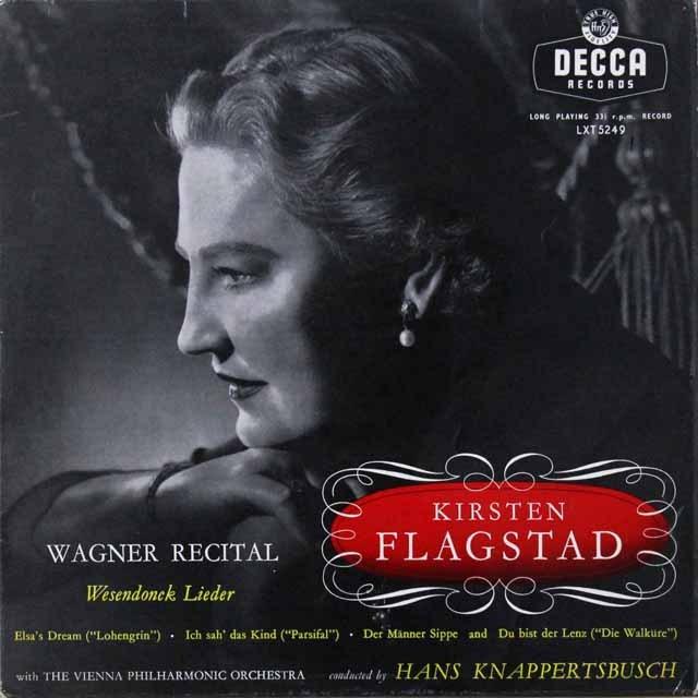 フラグスタート&クナッパーツブッシュのワーグナー/アリア集 仏DECCA   2720 LP レコード