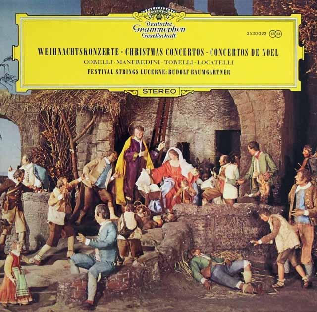 バウムガルトナーのクリスマス協奏曲集 独DGG  3001 LP レコード