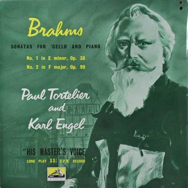 【オリジナル盤】 トルトゥリエ&エンゲルのブラームス/チェロソナタ第1&2番 英EMI 3291 LP レコード