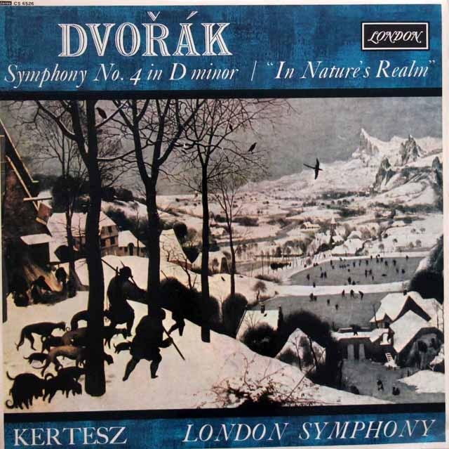 ケルテスのドヴォルザーク/交響曲第4番ほか 英LONDON(DECCA) 3001 LP レコード