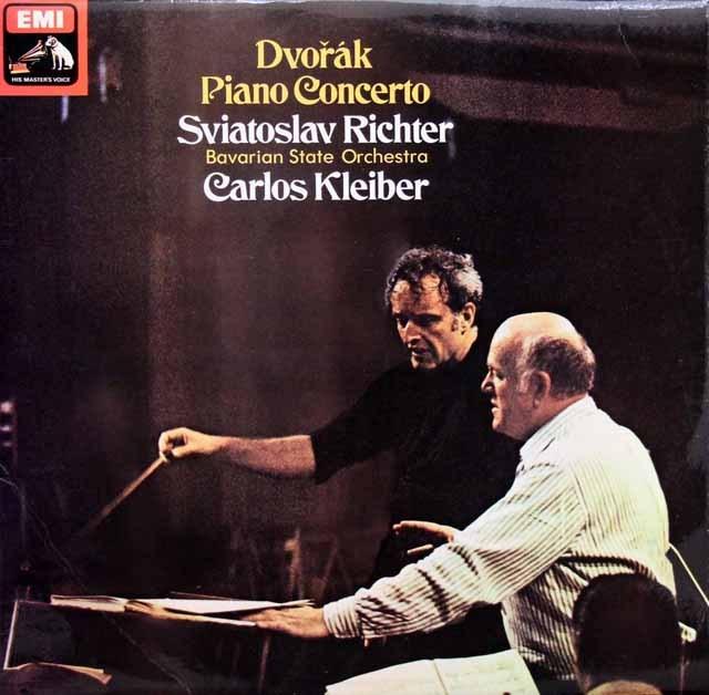 【オリジナル盤】リヒテル&クライバーのドヴォルザーク/ピアノ協奏曲 英EMI 3001 LP レコード