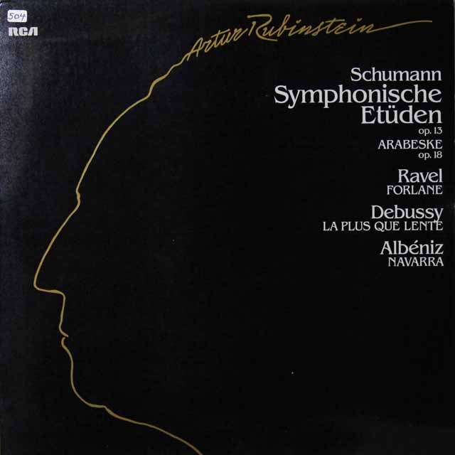ルービンシュタインのシューマン/交響的練習曲ほか 独RCA 3291 LP レコード
