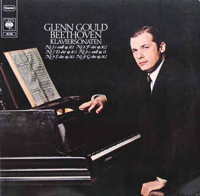 グールドのベートーヴェン/ピアノソナタ第5番~第10番 独CBS 3001 LP レコード