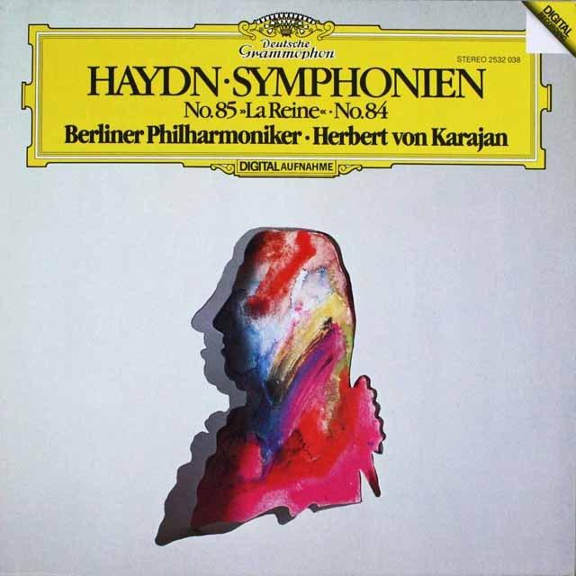カラヤンのハイドン/交響曲第85番「王妃」&84番 独DGG  HVK LP レコード