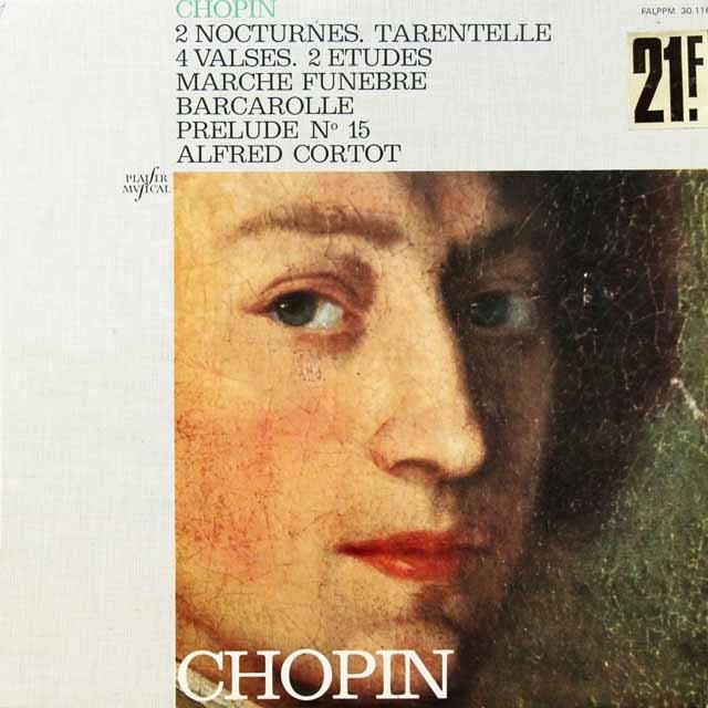 コルトーのショパン/ノクターン第2、5番ほか 仏EMI  2709 LP レコード