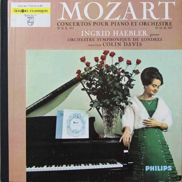 ヘブラー&デイヴィスのモーツァルト/ピアノ協奏曲第11&13番 仏PHILIPS 3292 LP レコード