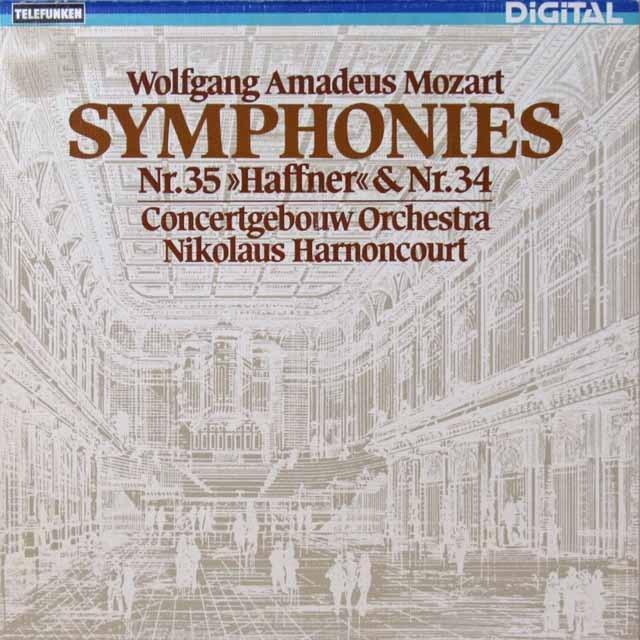アーノンクールのモーツァルト/交響曲第34&35番「ハフナー」 独TELEFUNKEN 3292 LP レコード