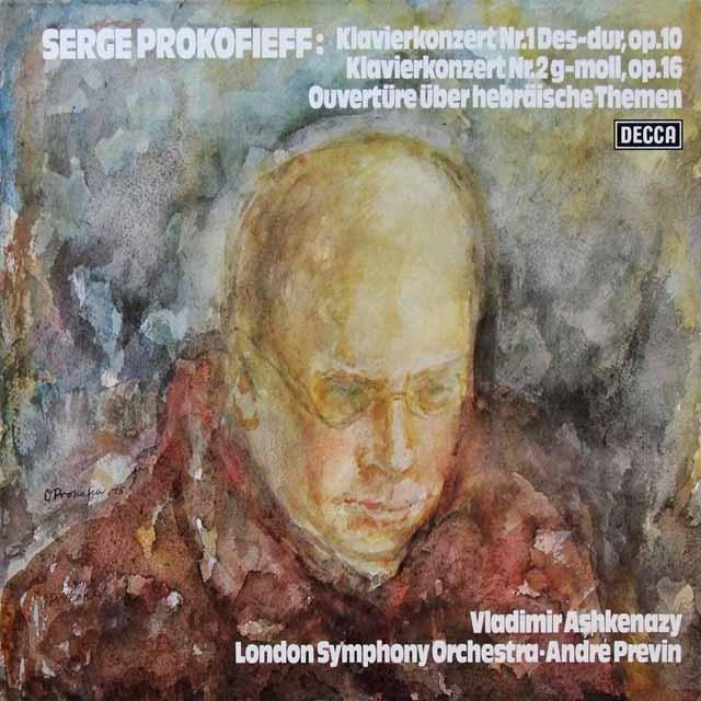 アシュケナージ&プレヴィンのプロコフィエフ/ピアノ協奏曲第1&2番 独DECCA 3292 LP レコード