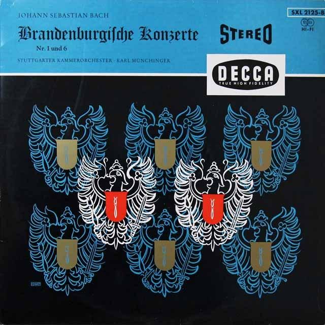 ミュンヒンガーのバッハ/ブランデンブルク協奏曲第1&6番 独DECCA 2709 LP レコード