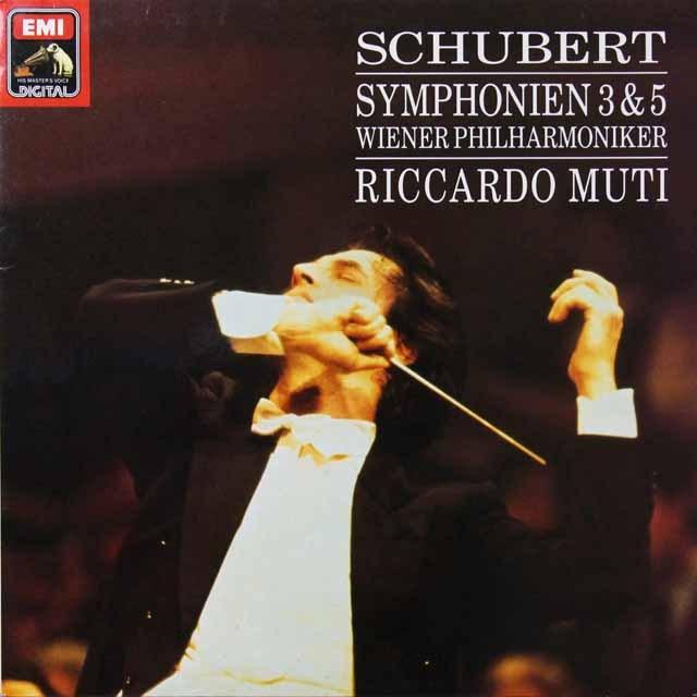 ムーティのシューベルト/交響曲第3&5番 独EMI 3292 LP レコード