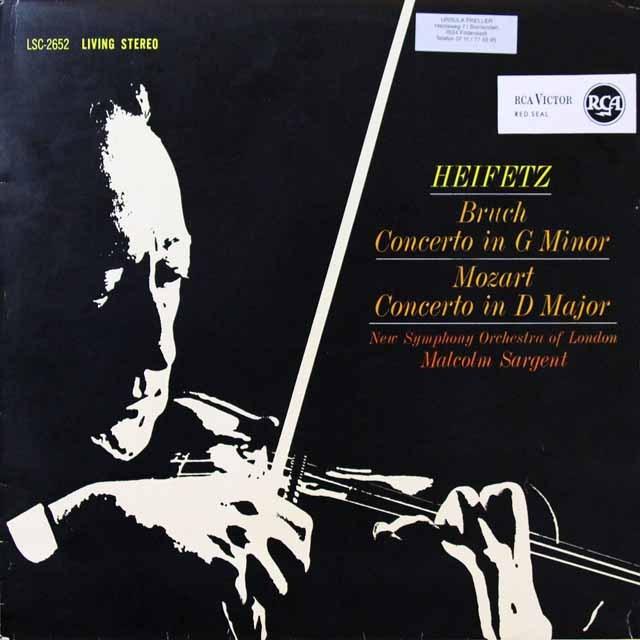 ハイフェッツのブルッフ/ヴァイオリン協奏曲第1番ほか 独DGG 2709 LP レコード