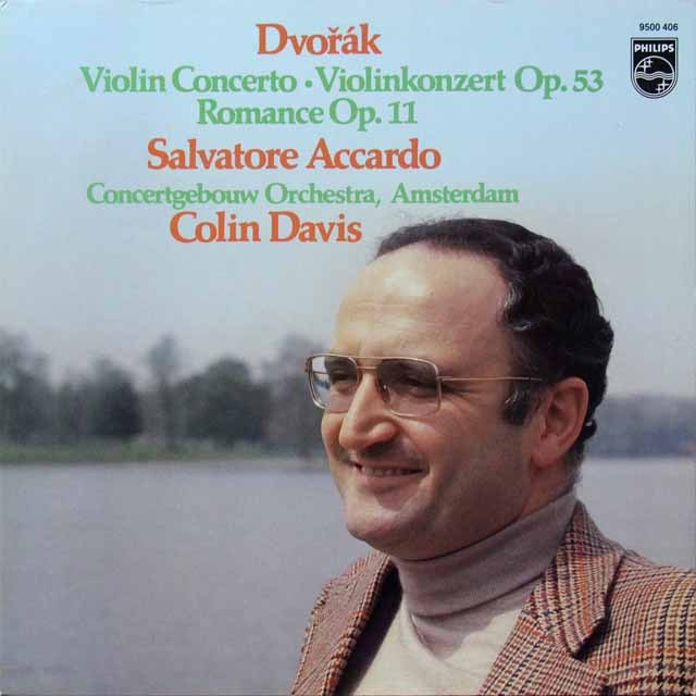 アッカルド&デイヴィスのドヴォルザーク/ヴァイオリン協奏曲 蘭PHILIPS 2709 LP レコード