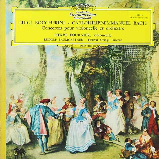 フルニエ&バウムガルトナーのボッケリーニ/チェロ協奏曲ほか 独DGG 3292 LP レコード