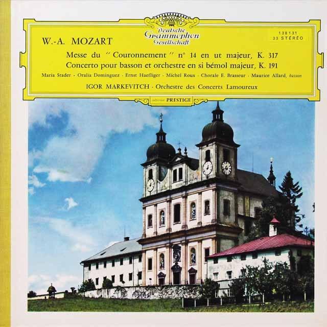【独最初期盤】 マルケヴィチのモーツァルト/「戴冠ミサ」ほか 独DGG 3292 LP レコード