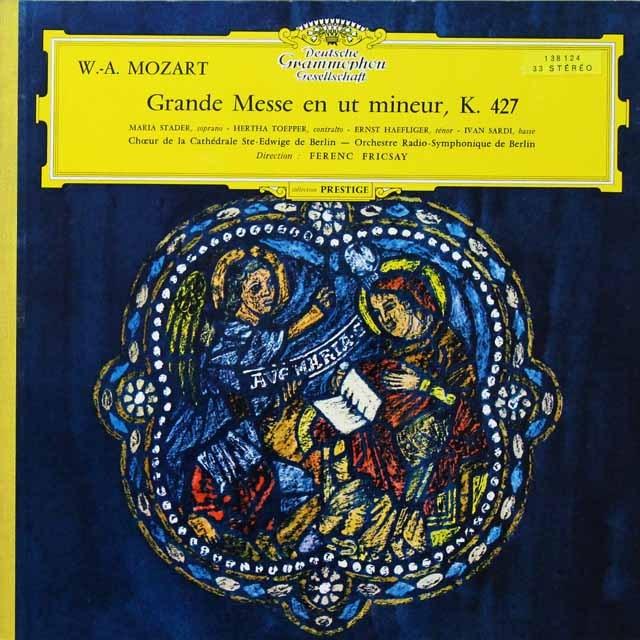【独最初期盤】 フリッチャイのモーツァルト/「大ミサ」(ハ短調ミサ)  独DGG 3292 LP レコード