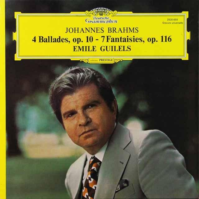 ギレリスのブラームス/「4つのバラード」ほか  仏DGG 2711 LP レコード