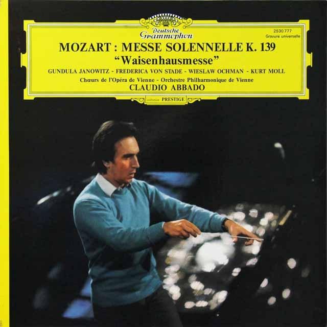 アバドのモーツァルト/「孤児院ミサ」  仏DGG 2711 LP レコード