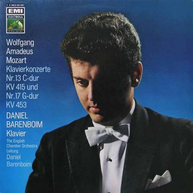 バレンボイムのモーツァルト/ピアノ協奏曲第13&17番 独EMI 3292 LP レコード